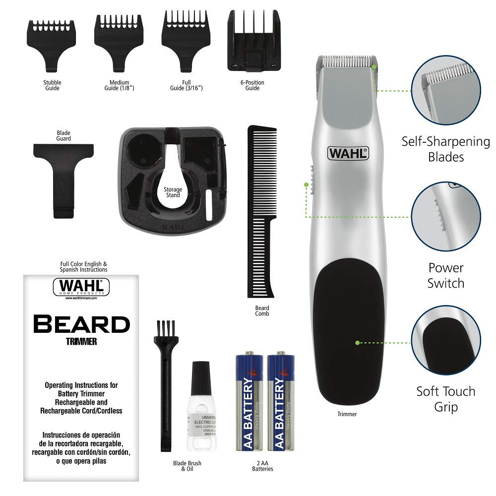 Wahl 9906-717 Groomsman Beard and Mustache Trimmer attachments